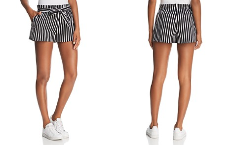 AQUA Striped Paper Bag Shorts - 100% Exclusive - Bloomingdale's_2