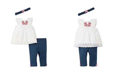 Little Me Girls' Eyelet Floral Tunic, Leggings & Headband Set - Baby - Bloomingdale's_2