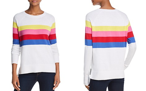 AQUA Rainbow Striped Sweater - 100% Exclusive - Bloomingdale's_2