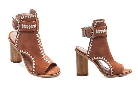 Bernardo Women's Embroidered Suede Peep Toe Block Heel Booties - Bloomingdale's_2
