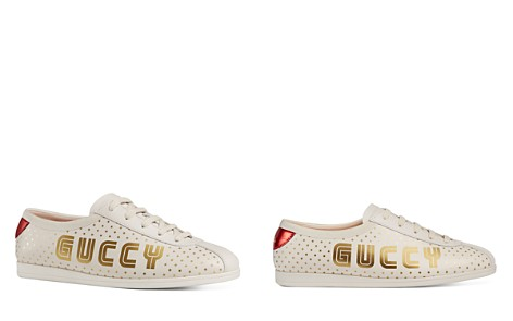 Gucci Women's Falacer Leather Print Low Top Lace Up Sneakers - Bloomingdale's_2