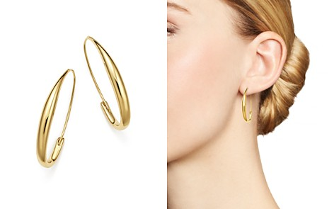 Bloomingdale's Endless Oval Hoop Earrings in 14K Yellow Gold - 100% Exclusive _2
