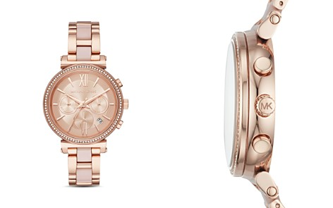 Michael Kors Rose Gold-Tone Sofie Chronograph, 39mm - Bloomingdale's_2