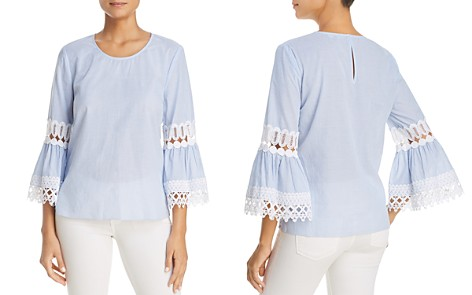 Le Gali Sloane Lace Inset Blouse - 100% Exclusive - Bloomingdale's_2
