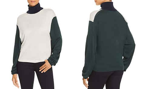 Burberry Mazon Color Block Turtleneck Sweater - Bloomingdale's_2