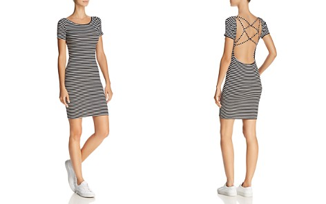 Olivaceous Strappy Open-Back Striped Dress - Bloomingdale's_2