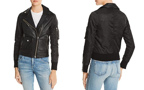 Doma Mixed Media Aviator Jacket - Bloomingdale's_2