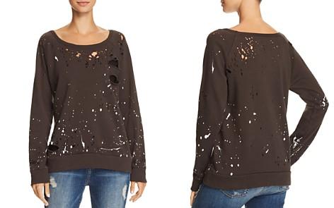 CHASER Distressed Splatter Print Sweatshirt - Bloomingdale's_2