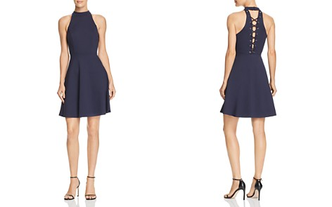 AQUA Lace-Up Back Fit-and-Flare Dress - 100% Exclusive - Bloomingdale's_2