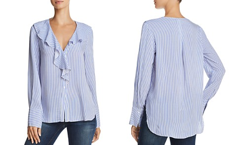 AQUA Ruffled Striped Blouse - 100% Exclusive - Bloomingdale's_2