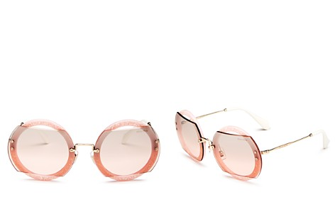 Miu Miu Women's Reveal Evolution Mirrored Oversized Round Sunglasses, 63mm - Bloomingdale's_2