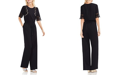 VINCE CAMUTO Lace Inset Belted Jumpsuit - Bloomingdale's_2