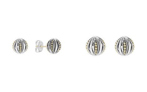 LAGOS 18K Gold & Sterling Silver Caviar Talisman Beaded Open Ball Stud Earrings - Bloomingdale's_2