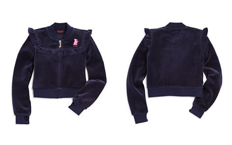 Juicy Couture Black Label Girls' Velour Ruffled Westwood Jacket - Big Kid - Bloomingdale's_2