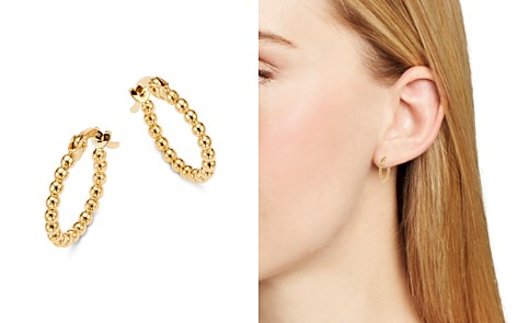 Moon & Meadow Beaded Hoop Earrings in 14K Yellow Gold - 100% Exclusive - Bloomingdale's_2