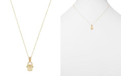 "Moon & Meadow Hamsa Hand Pendant Necklace in 14K Yellow Gold, 16"" - 100% Exclusive - Bloomingdale's_2"