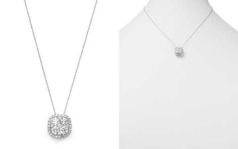 Bloomingdale's Diamond Cluster Pendant Necklace in 14K White Gold, 2.0 ct. t.w. - 100% Exclusive _2
