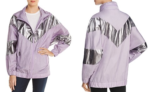 Avec Les Filles Metallic Color-Block Windbreaker - 100% Exclusive - Bloomingdale's_2