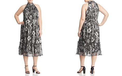 MICHAEL Michael Kors Plus Metallic Floral-Print Midi Dress - Bloomingdale's_2