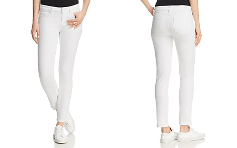 PAIGE Skyline Ankle Peg Jeans in Crisp White - Bloomingdale's_2