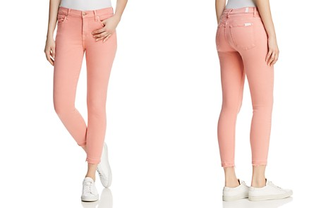 7 For All Mankind The Ankle Skinny Jeans in Primrose - Bloomingdale's_2