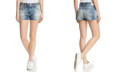 AG Ex-Boyfriend Cutoff Denim Shorts in 19 Years Quilted Blue - Bloomingdale's_2