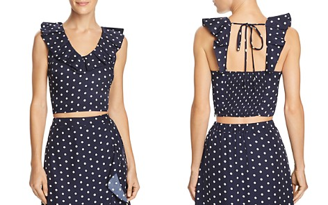 Lucy Paris Ruffled Polka Dot Cropped Top - Bloomingdale's_2
