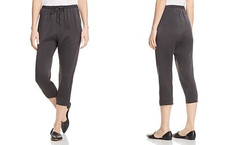 Eileen Fisher Silk Cropped Pants - Bloomingdale's_2