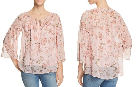 Status by Chenault Floral Ruffle Trim Peasant Blouse - Bloomingdale's_2