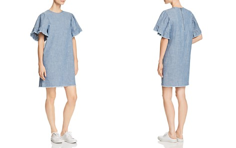 BeachLunchLounge Bell Sleeve Chambray Shift Dress - Bloomingdale's_2