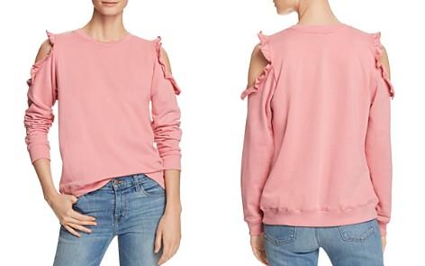 Alison Andrews Ruffle Cold-Shoulder Sweatshirt - Bloomingdale's_2