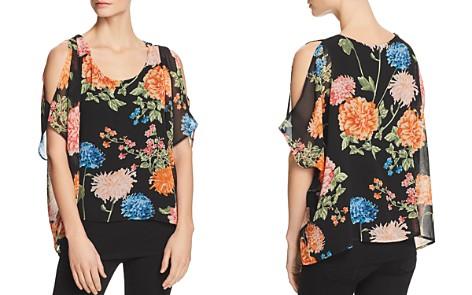 Avec Cold-Shoulder Floral Overlay Top - Bloomingdale's_2