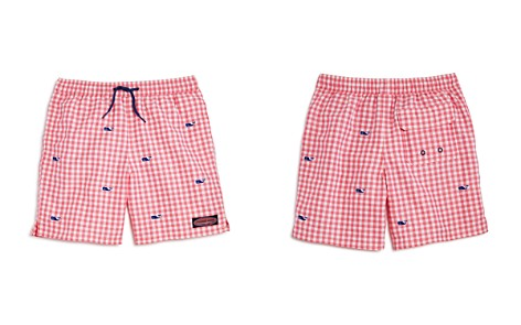 Vineyard Vines Boys' Gingham Embroidered-Whale Chappy Swim Trunks - Little Kid, Big Kid - Bloomingdale's_2
