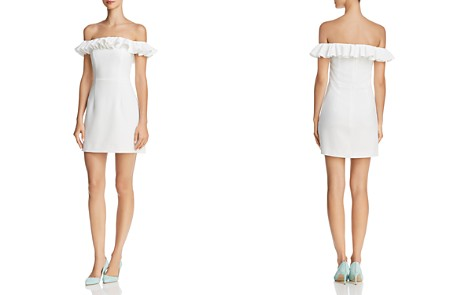 FRENCH CONNECTION Whisper Light Ruffled Off-the-Shoulder Dress - 100% Exclusive - Bloomingdale's_2