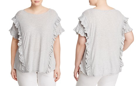 VINCE CAMUTO Plus Smocked Ruffle Knit Top - Bloomingdale's_2