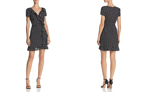AQUA Polka Dot Wrap Dress - 100% Exclusive - Bloomingdale's_2
