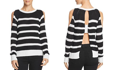 AQUA Striped Open-Back Cold-Shoulder Sweater - 100% Exclusive - Bloomingdale's_2