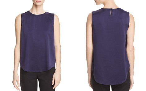 Eileen Fisher Silk High/Low Tank - Bloomingdale's_2