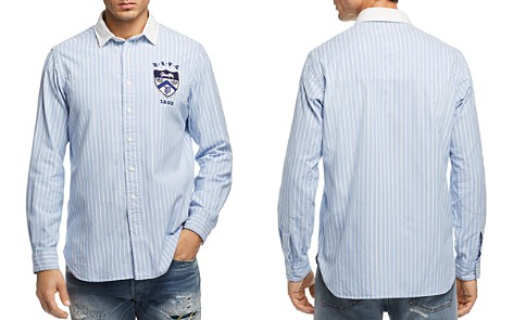 Polo Ralph Lauren Crest Striped Oxford Button-Down Shirt - 100% Exclusive - Bloomingdale's_2