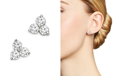 Bloomingdale's Diamond Three Stone Stud Earrings in 14K White Gold, 1.50 ct. t.w. - 100% Exclusive _2