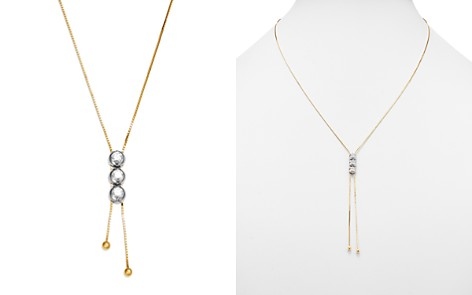 Bloomingdale's Diamond Triple Station Bolo Necklace in 14K White & Yellow Gold, 0.70 ct. t.w. - 100% Exclusive _2