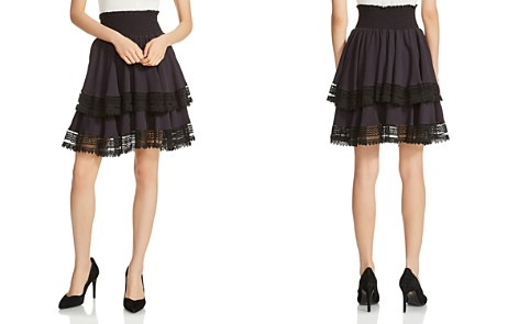 Maje Jaglia Tiered Lace-Trim Skirt - Bloomingdale's_2