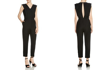 Maje Plana Cropped V-neck Jumpsuit - Bloomingdale's_2