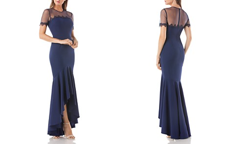 JS Collections Illusion High/Low Gown - Bloomingdale's_2