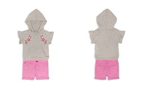 Hudson Girls' Embroidered Hoodie & Cuffed Shorts Set - Little Kid - Bloomingdale's_2