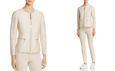 Lafayette 148 New York Kerrington Textured Zip Jacket - Bloomingdale's_2