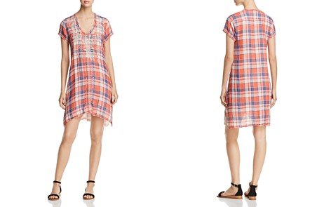 Johnny Was Surya Embroidered Plaid Tunic Dress - Bloomingdale's_2