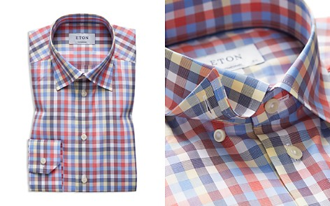 Eton Multi Check Regular Fit Dress Shirt - Bloomingdale's_2