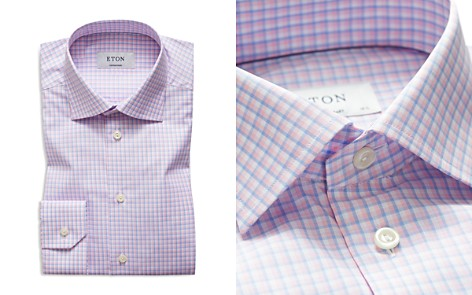 Eton Micro Check Regular Fit Dress Shirt - Bloomingdale's_2