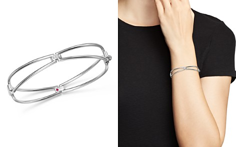 Roberto Coin 18K White Gold Classic Parisienne Diamond Bangle Bracelet - 100% Exclusive - Bloomingdale's_2